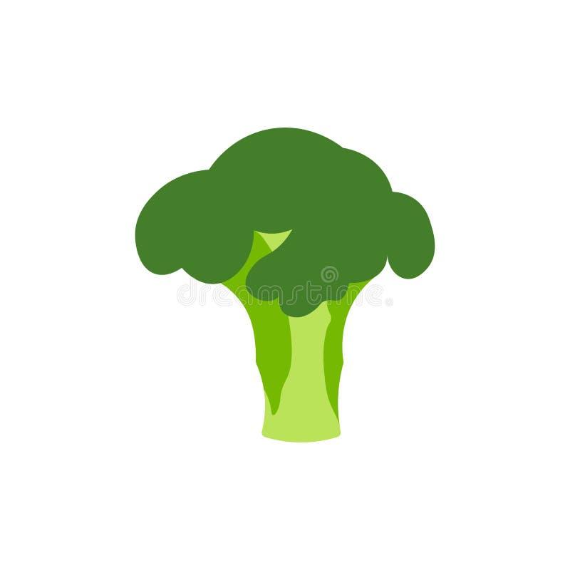 Coleção brilhante de brócolis coloridos Vegetal diferente dos desenhos animados frescos isolado no fundo branco usado para o comp ilustração do vetor
