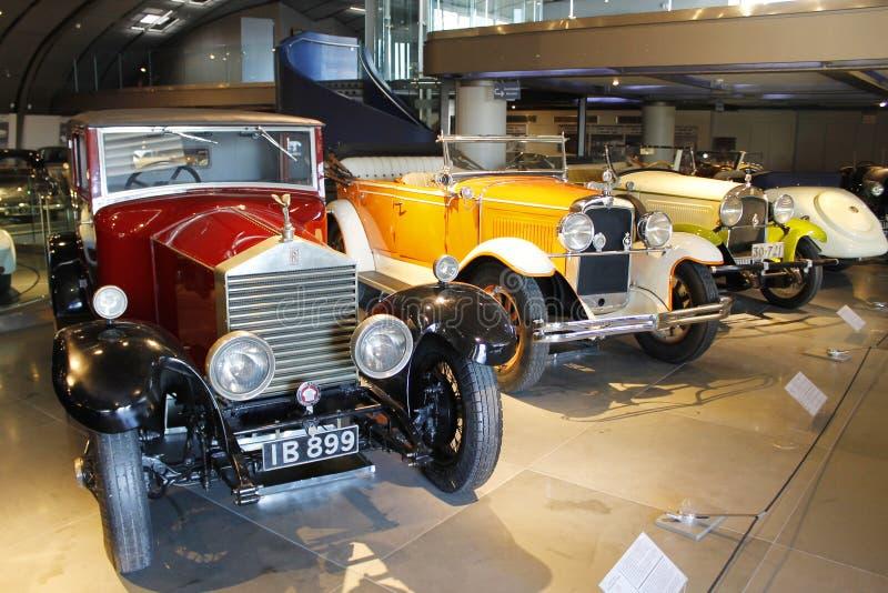 Coleção clássica dos carros de Rolls Royce imagem de stock
