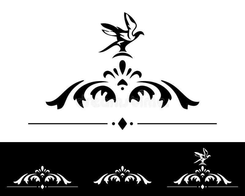 Coleção clássica dos elementos do projeto ilustração do vetor