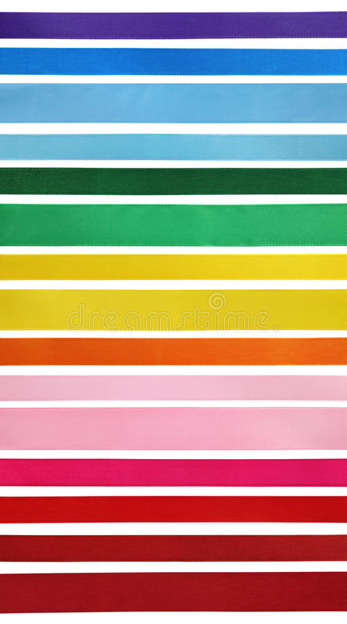 Coleção colorida das fitas imagem de stock royalty free