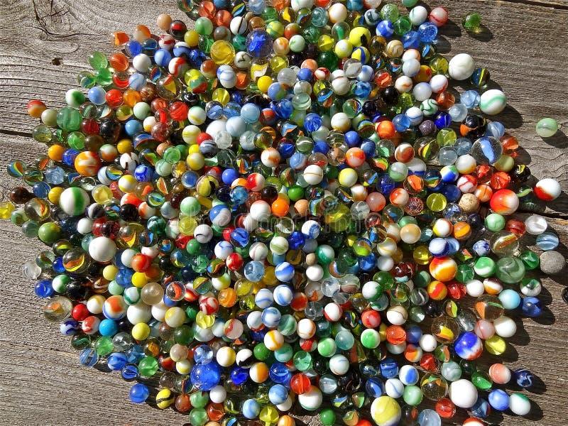 Coleção colorida dos mármores foto de stock royalty free