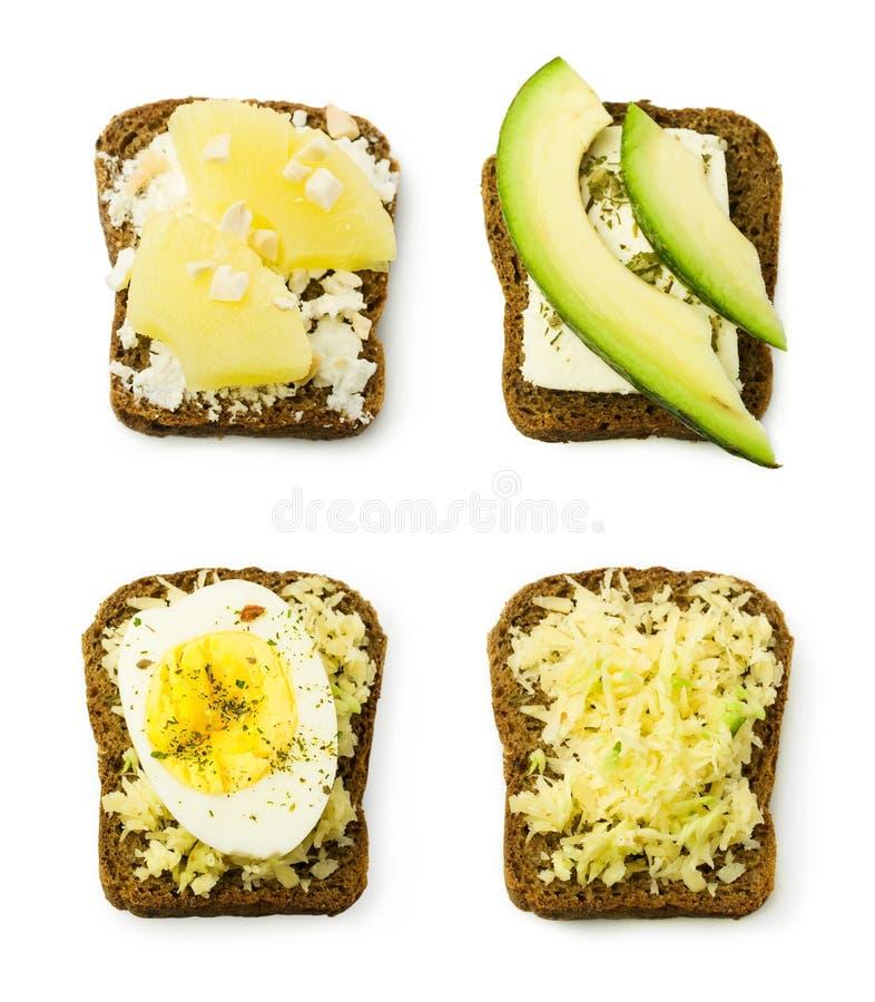Coleção com sanduíche foto de stock