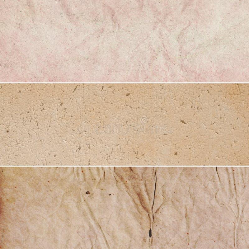 Coleção cor-de-rosa dos fundos do vintage de Brown fotos de stock