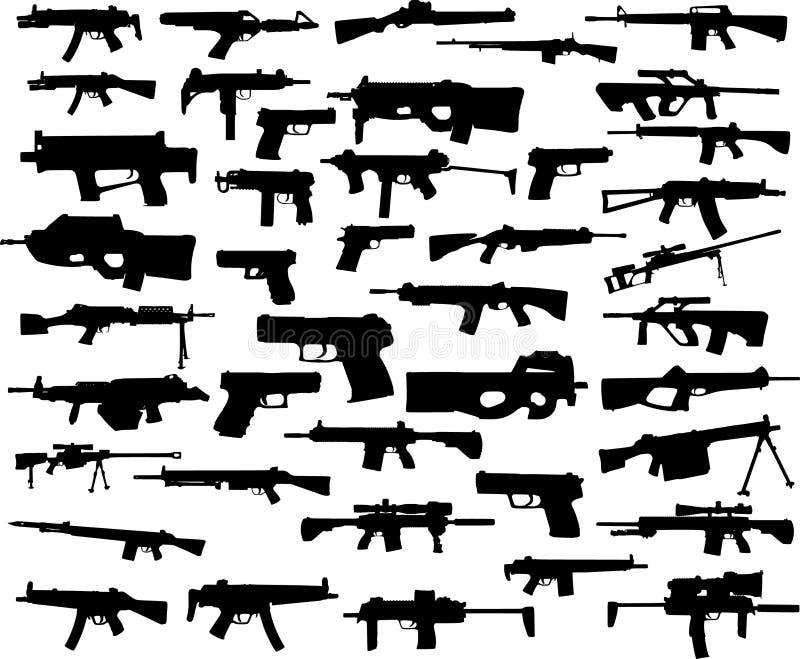 Coleção da arma ilustração do vetor