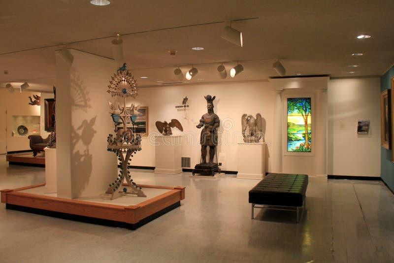 Coleção da arte vista nas salas durante todo Art Gallery memorável, Rochester, New York, 2017 imagens de stock