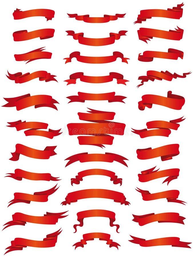 Coleção da bandeira ilustração stock