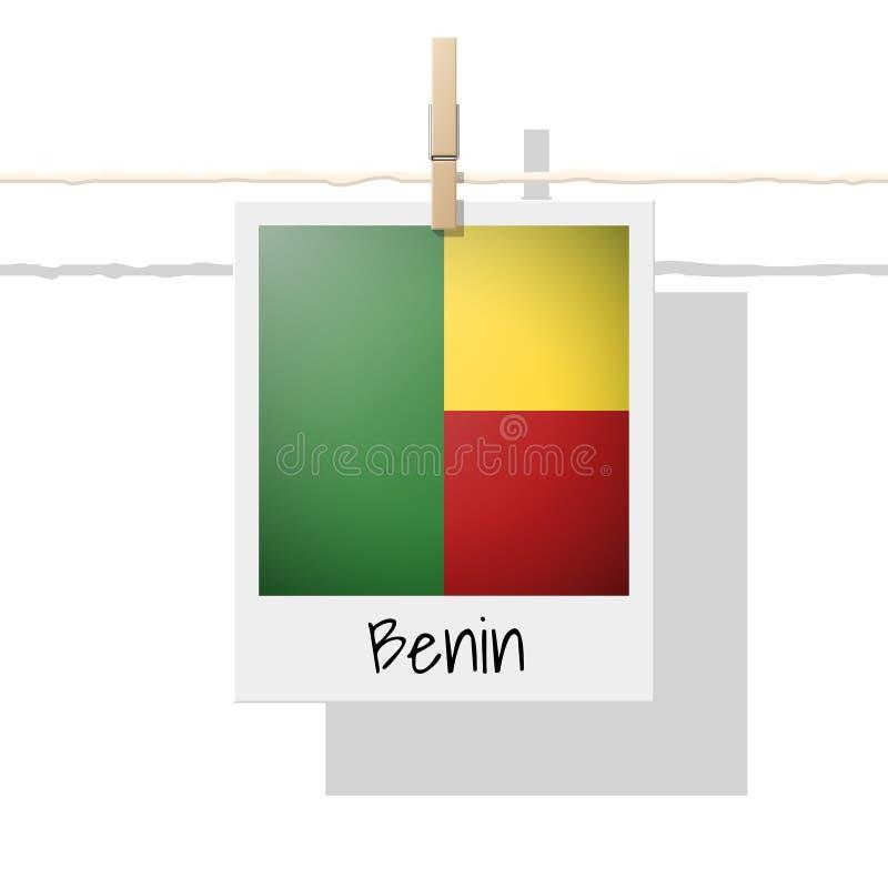 Coleção da bandeira de país africano com a foto da bandeira de Benin ilustração royalty free