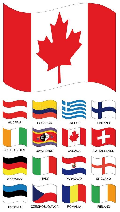 Coleção da bandeira do vetor ilustração do vetor