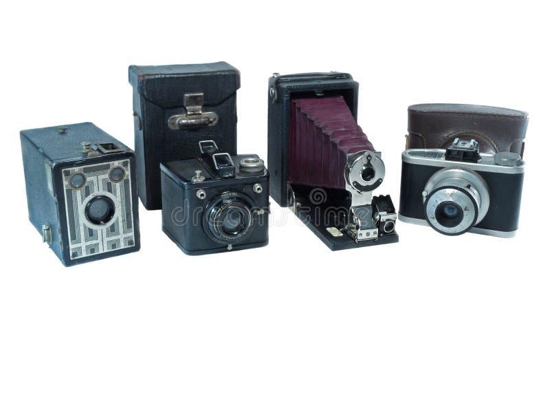 Coleção da câmera do vintage foto de stock royalty free