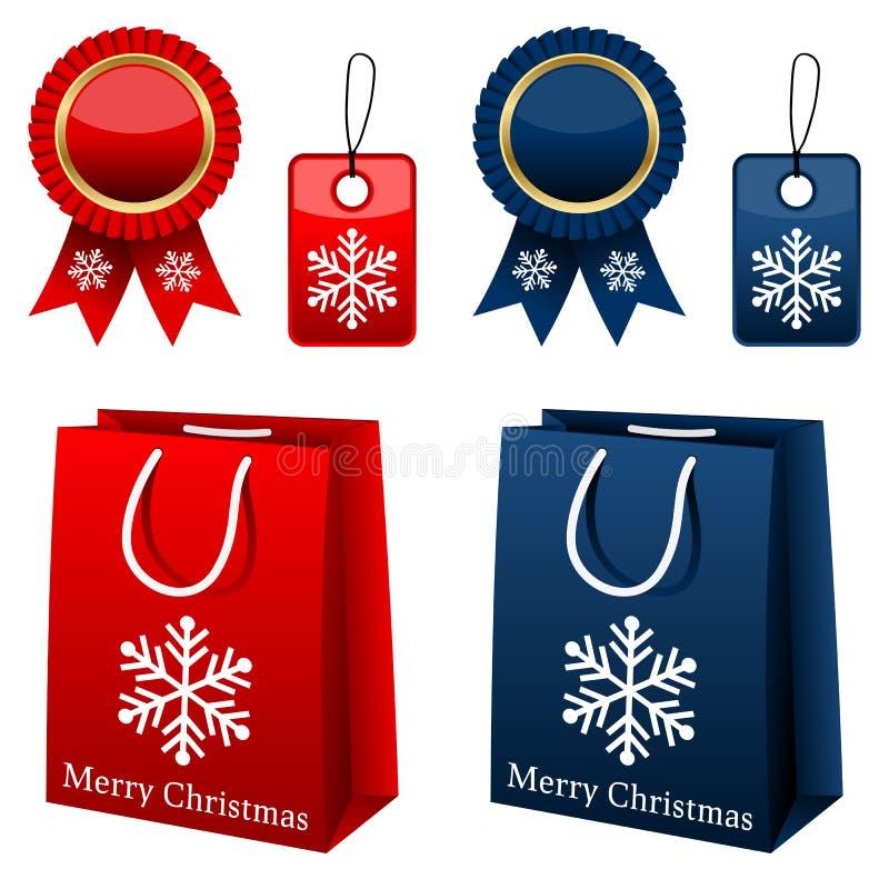 Coleção da compra do Natal ilustração do vetor