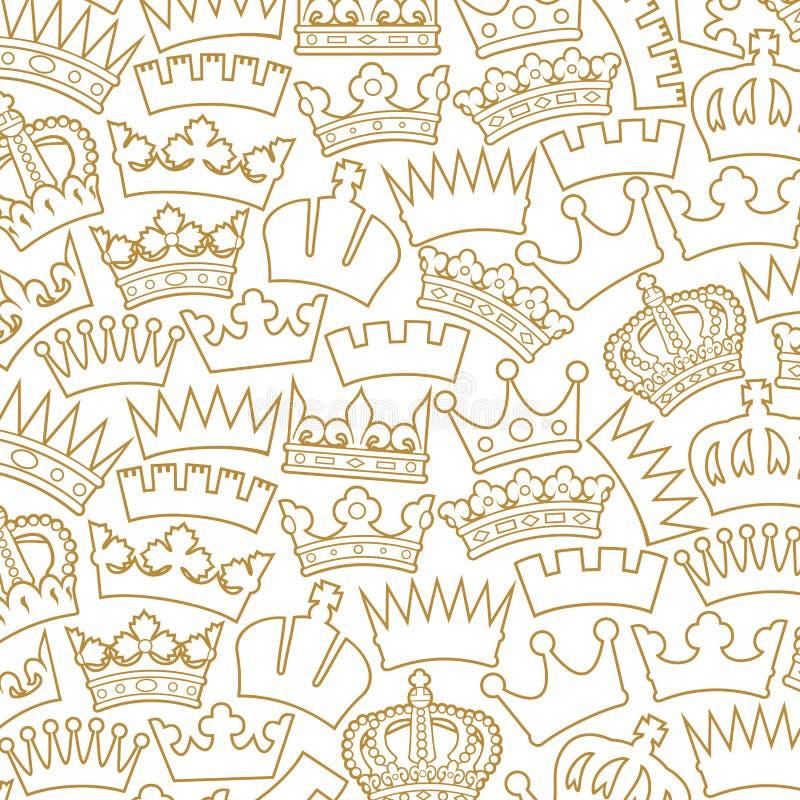 Coleção da coroa ilustração do vetor
