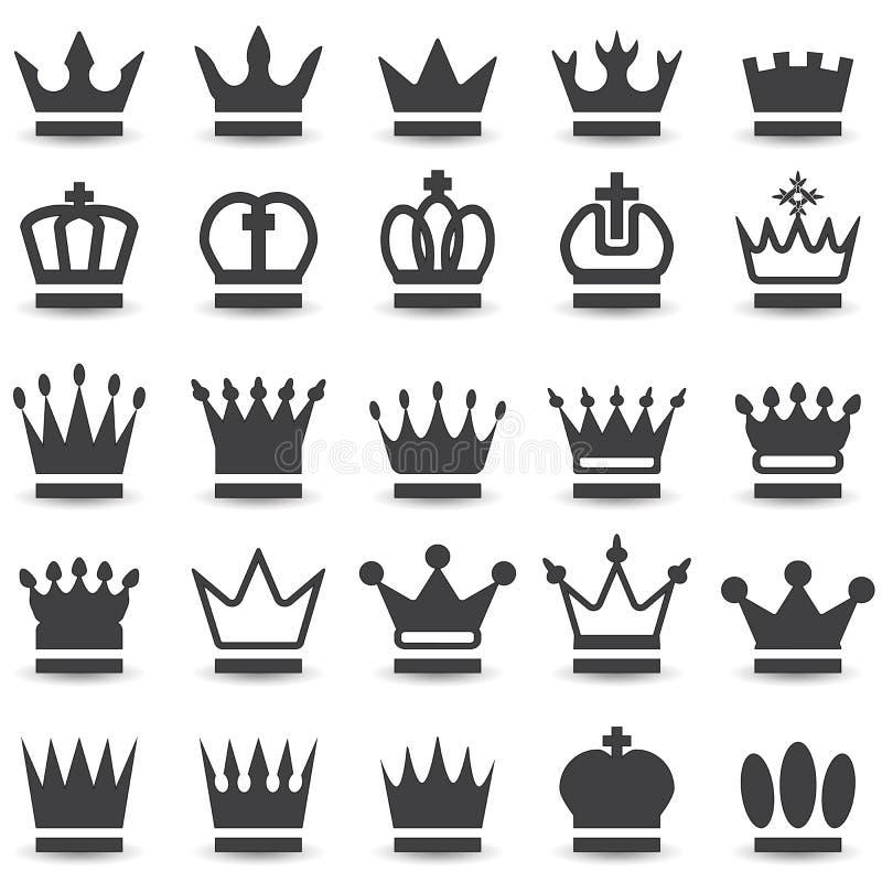 Coleção da coroa ilustração royalty free