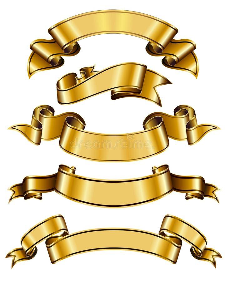 Coleção da fita do ouro ilustração royalty free