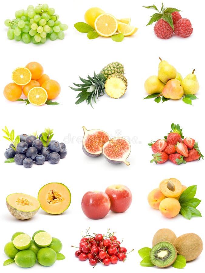 Coleção da fruta fotografia de stock royalty free