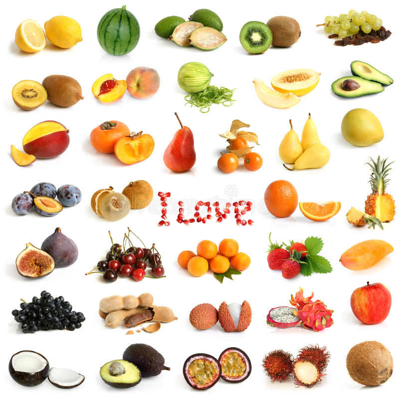 Coleção da fruta fotografia de stock