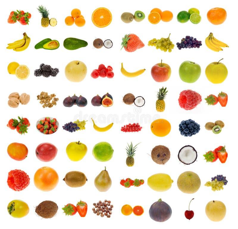 Coleção da fruta e das porcas imagens de stock royalty free