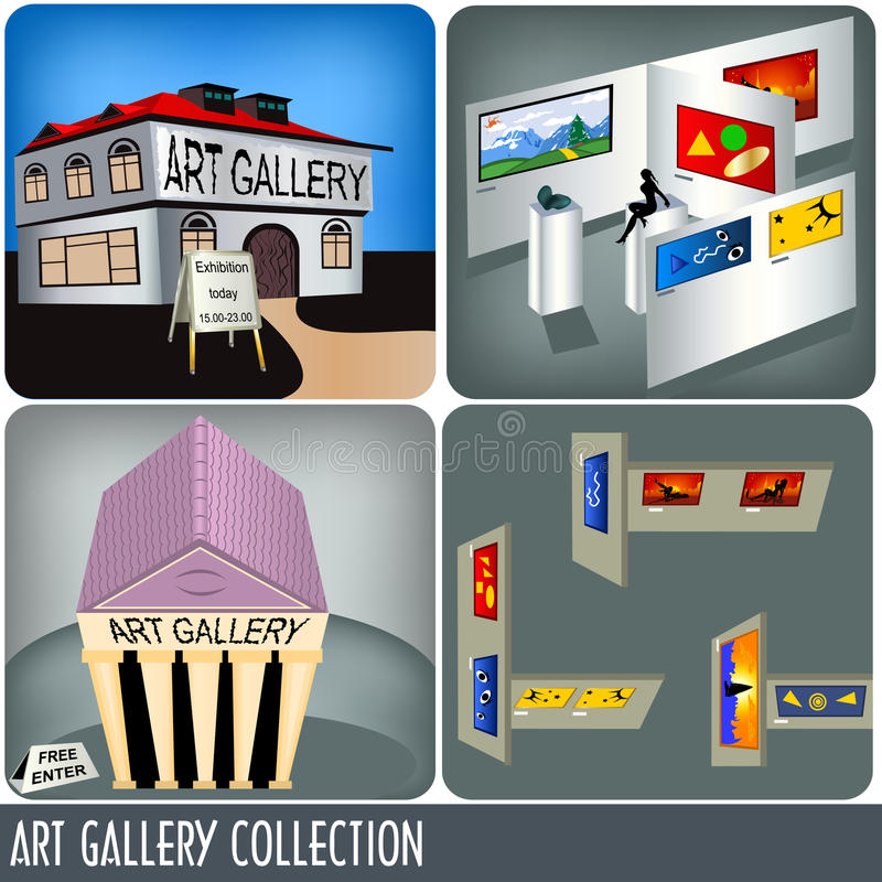 Coleção da galeria de arte ilustração do vetor