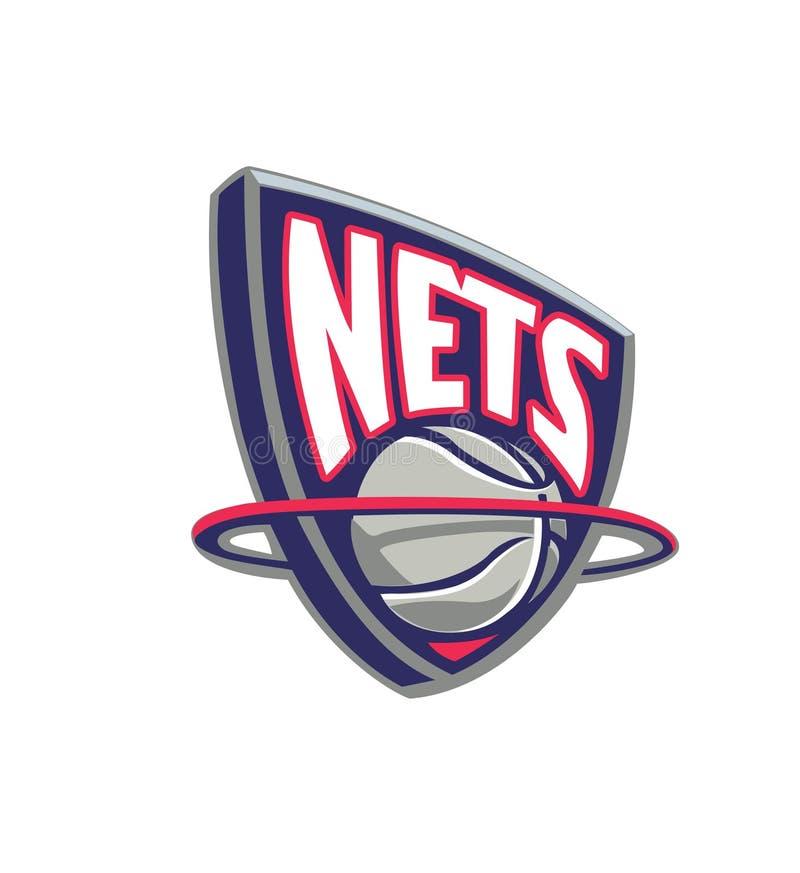 Coleção da ilustração do vetor dos logotipos da equipe de NBA ilustração royalty free