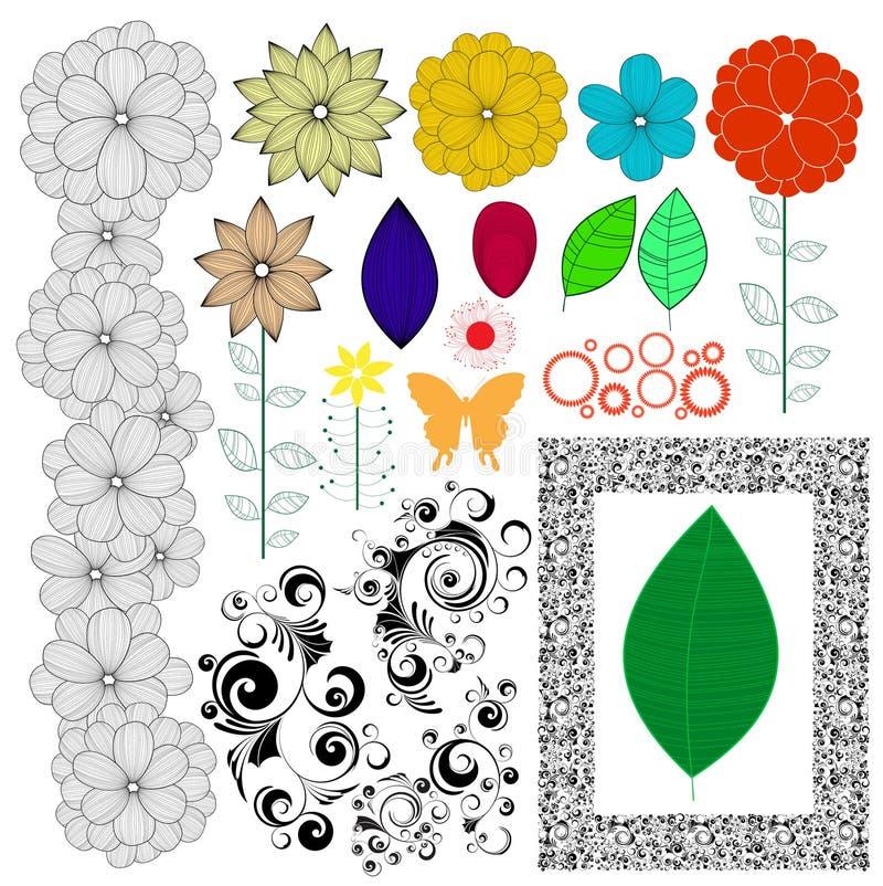Coleção da natureza ilustração stock