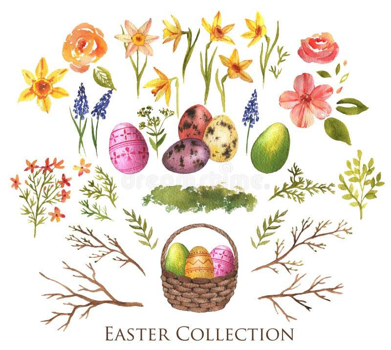 Coleção da Páscoa ilustração stock