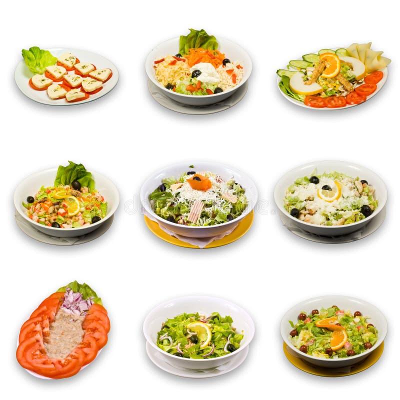 Coleção da salada imagens de stock