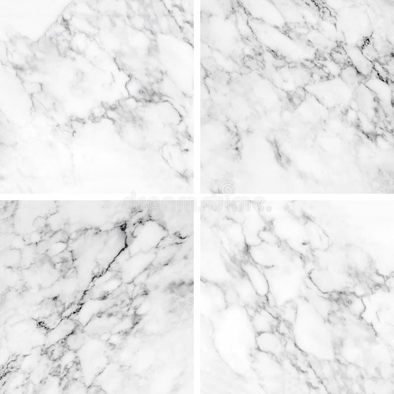 Coleção da textura e do fundo de mármore brancos fotografia de stock