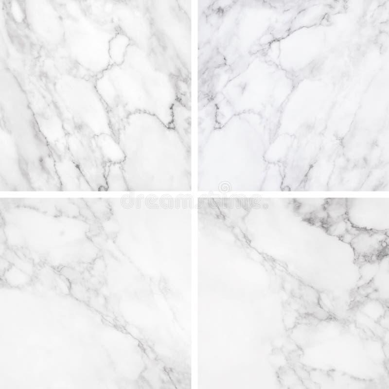 Coleção da textura e do fundo de mármore brancos fotografia de stock royalty free