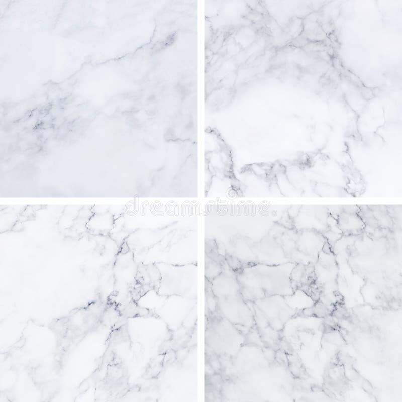 Coleção da textura e do fundo de mármore brancos fotos de stock