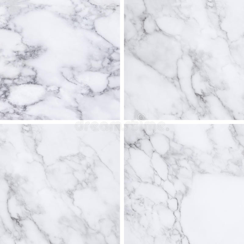 Coleção da textura e do fundo de mármore brancos foto de stock