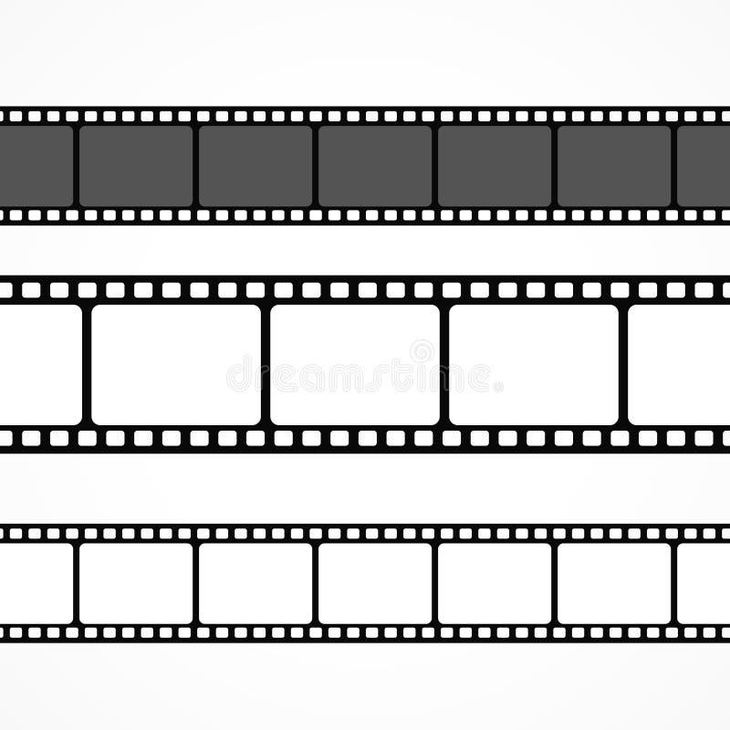 Coleção da tira do filme do vetor em tamanhos diferentes ilustração royalty free