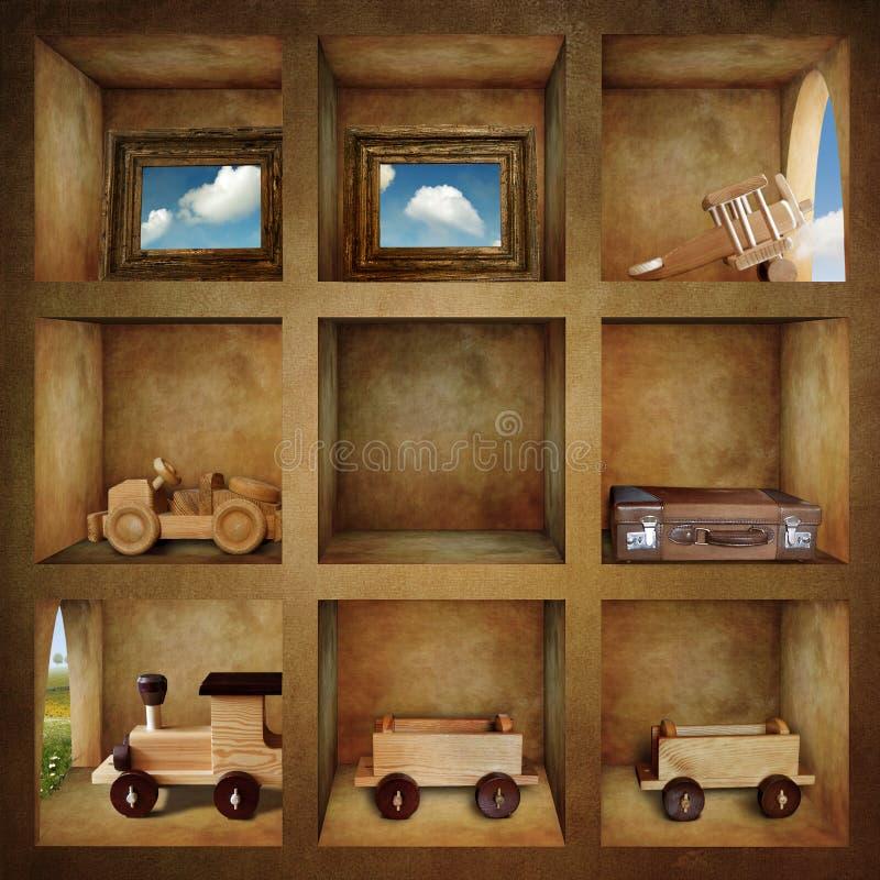 Coleção da viagem ilustração stock