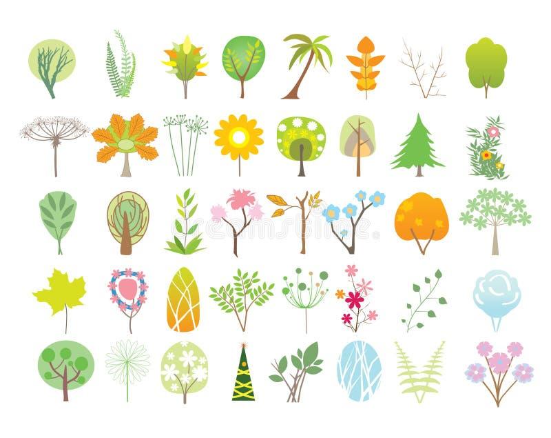 Coleção das árvores ilustração do vetor