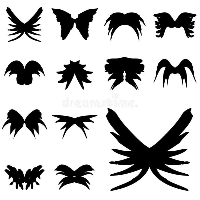 Coleção das asas ilustração do vetor