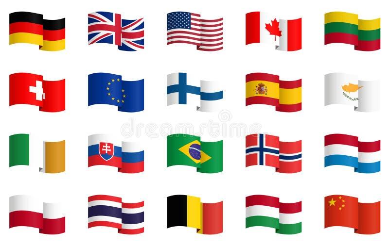coleção das bandeiras de país 1 ilustração royalty free