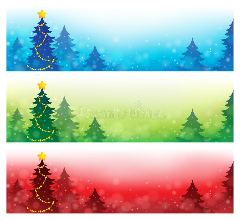 Coleção 4 das bandeiras do Natal ilustração do vetor
