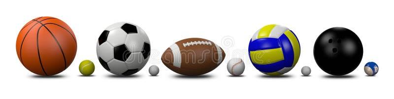 Coleção das bolas dos esportes ilustração stock