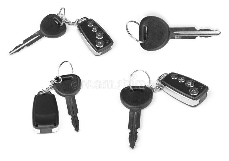 Coleção das chaves com alarme do carro fotos de stock