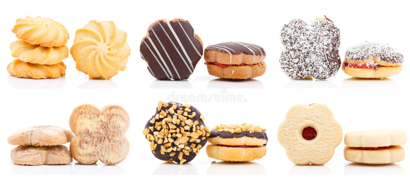 Coleção das cookies imagem de stock royalty free
