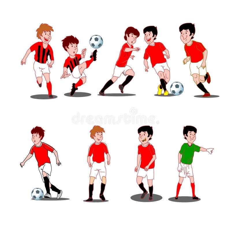 Coleção das crianças que jogam o esporte ilustração royalty free
