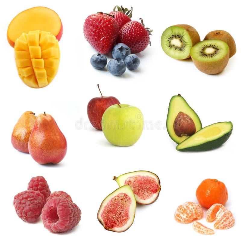 Coleção das frutas foto de stock