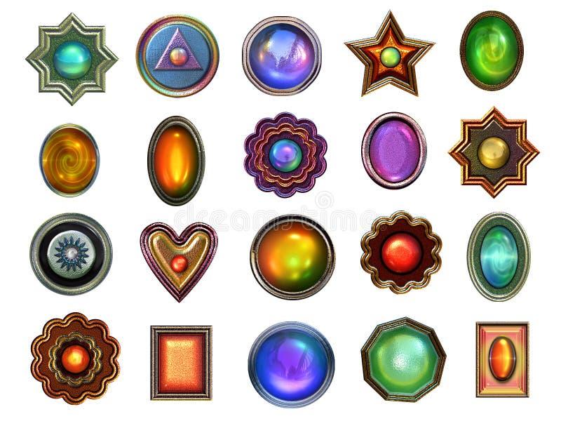 Coleção das gemas ilustração stock