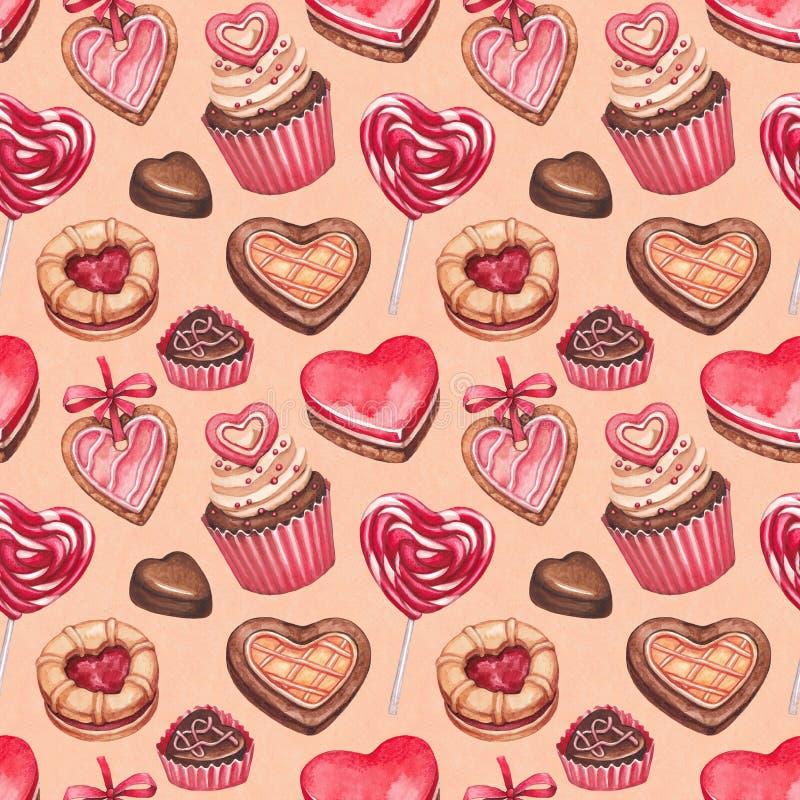 Coleção das ilustrações do dia de Valentim ilustração stock