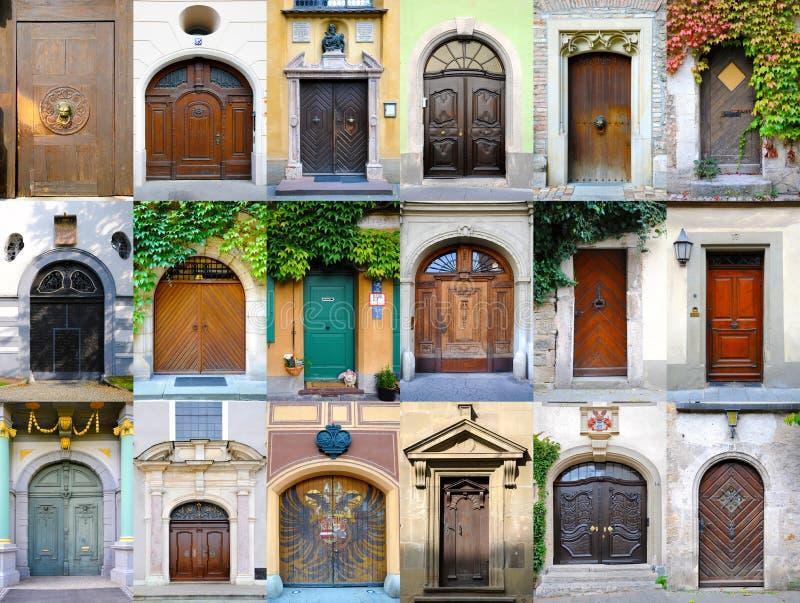 Coleção das portas de Alemanha imagens de stock royalty free
