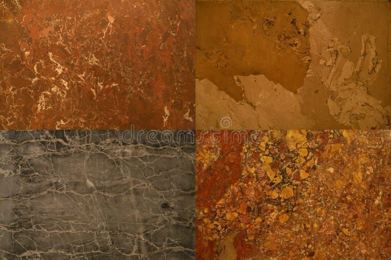 Coleção das texturas das pedras foto de stock