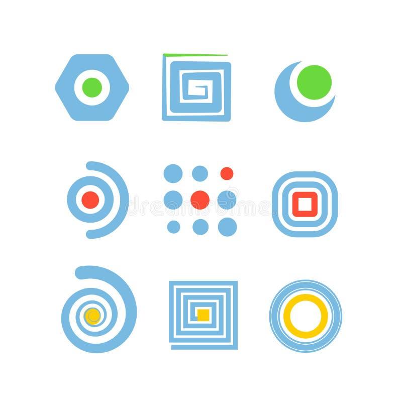Coleção de ícones abstratos ilustração stock