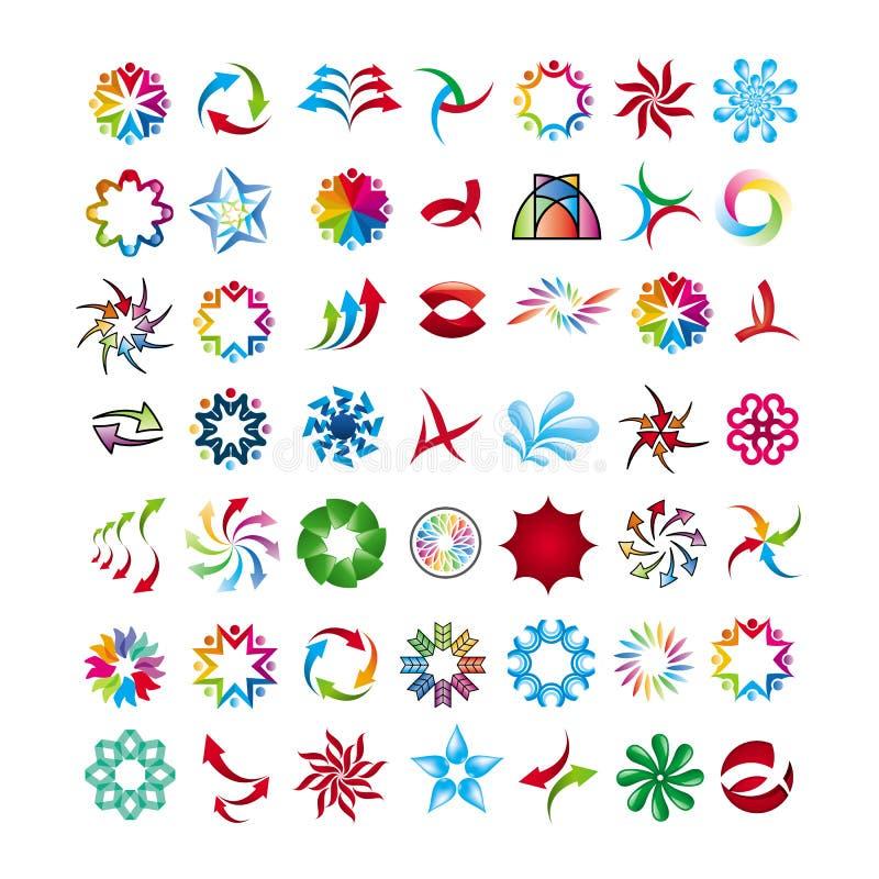 Coleção de ícones abstratos ilustração royalty free