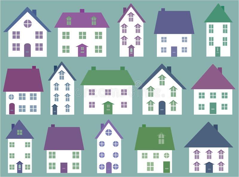 Download Coleção de ícones da casa ilustração do vetor. Ilustração de objeto - 12801059