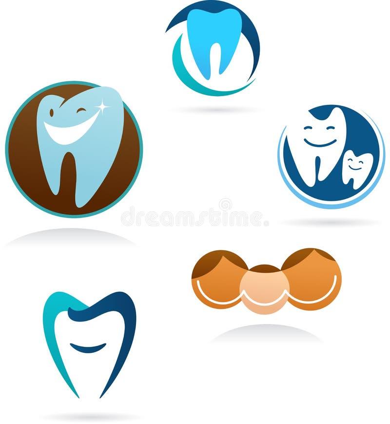Coleção de ícones dentais da clínica ilustração do vetor