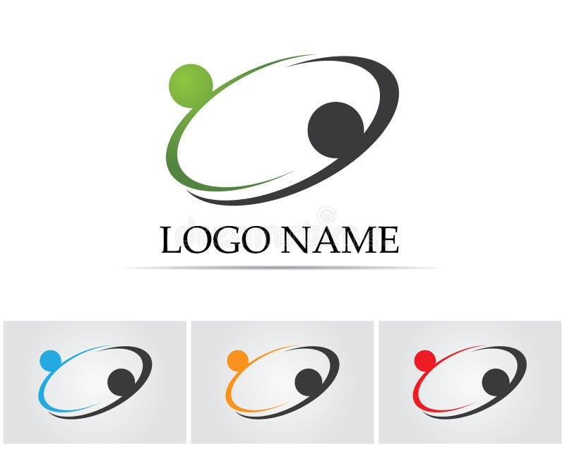 Coleção de ícones dos povos no círculo - Vector a comunidade, empresa, estrela, incorporada, ilustração stock