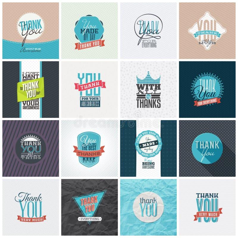 A coleção de agradece-lhe projetos de cartão
